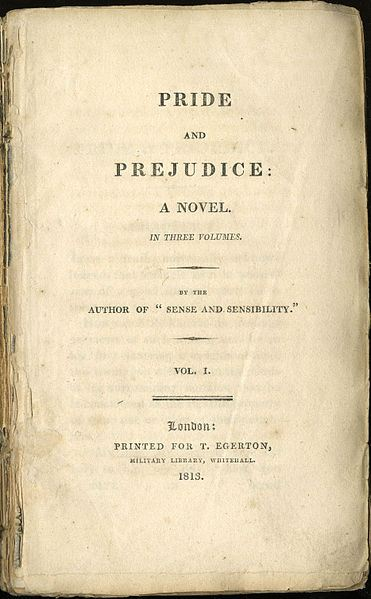 litchat the original title page from the 1813 edition of jane austen s price and prejudice